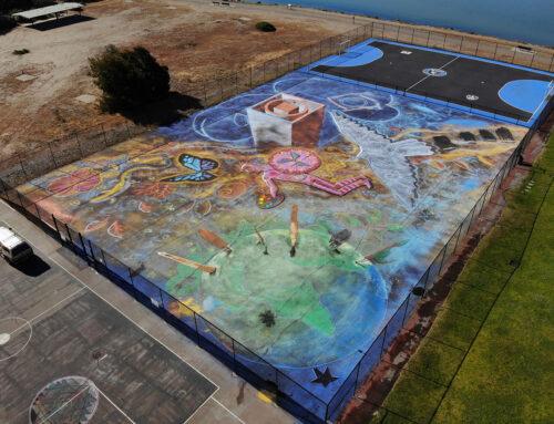World Record Chalk Street Art